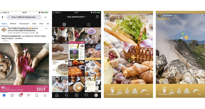 progressione delle stories instagram di frac pasticceria